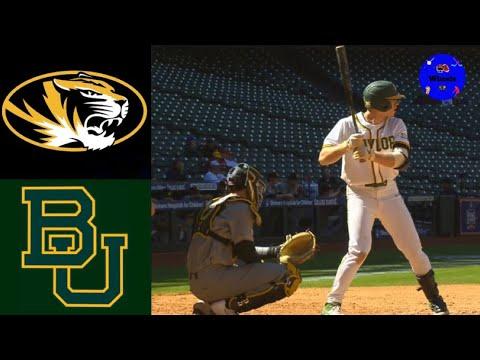 Missouri Vs Baylor | 2020 College Baseball Highlights