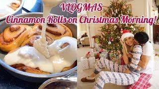 VLOGMAS   Cinnamon Rolls and Christmas Morning   Devon Windsor