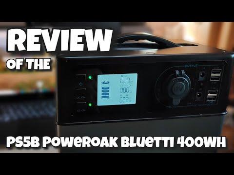 Review Of The PS5B Poweroak Bluetti 400Wh Portable Power Solar Generator