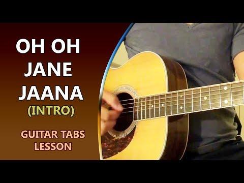 Oh Oh Jane Jaana - INTRO - Guitar Tabs Lesson    Musical Guruji