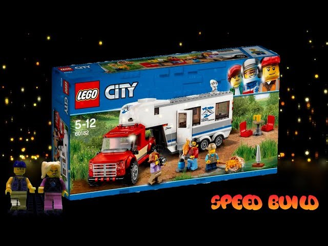 LEGO City Pickup & Caravan 60182 Building Kit (344 Piece) speed build