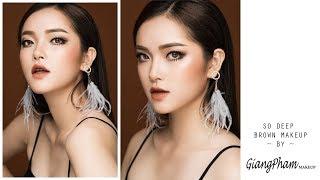 Giang Phạm Makeup - Trang điểm tone nâu cam cực chất -  Deep brown makeup