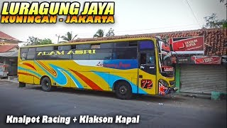 90 RIBU Rupiah    Sensasi Trip Naik Bis LURAGUNG Sumuk Class Kuningan - Jakarta