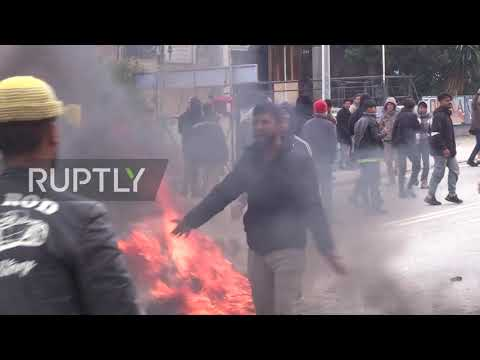 Greece: Police disperse rally as migrants demand better conditions at Lesvos camp