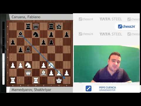 Mamedyarov vs. Caruana: Tata Steel Chess 2018 - Round 5 - Game of the Day