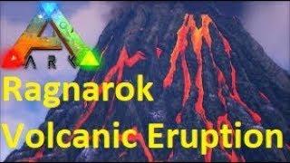 ARK Survival Evolved - RAGNAROK VOLCANO ERUPTION