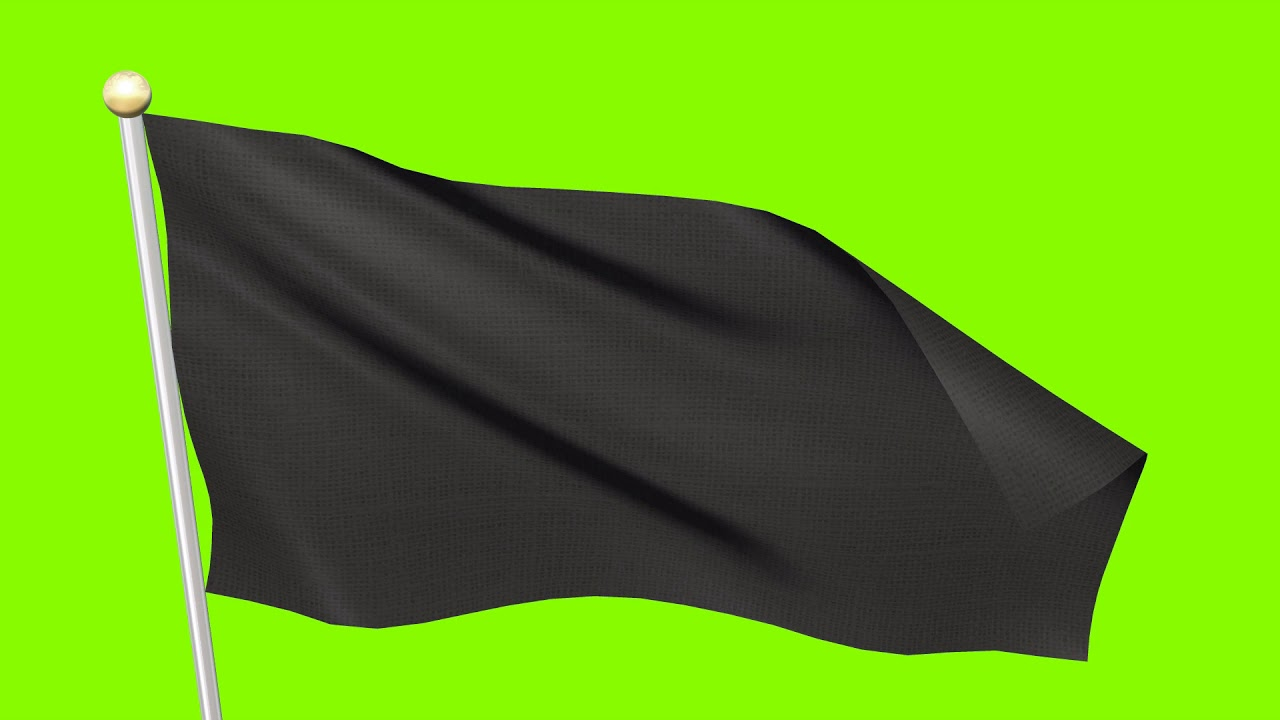 Download Free Video Footages - Black Flag  Waving , Black Flag animation background