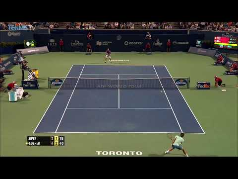 "Funny Roger Federer tweener and wild ""home run""! 