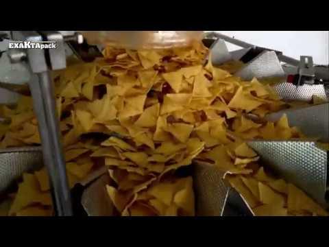 Linea para envasado de nachos en bolsas de 100 gr