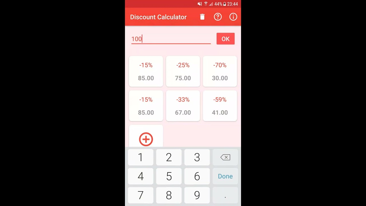 discount calculator helps you to find instantly the real prices