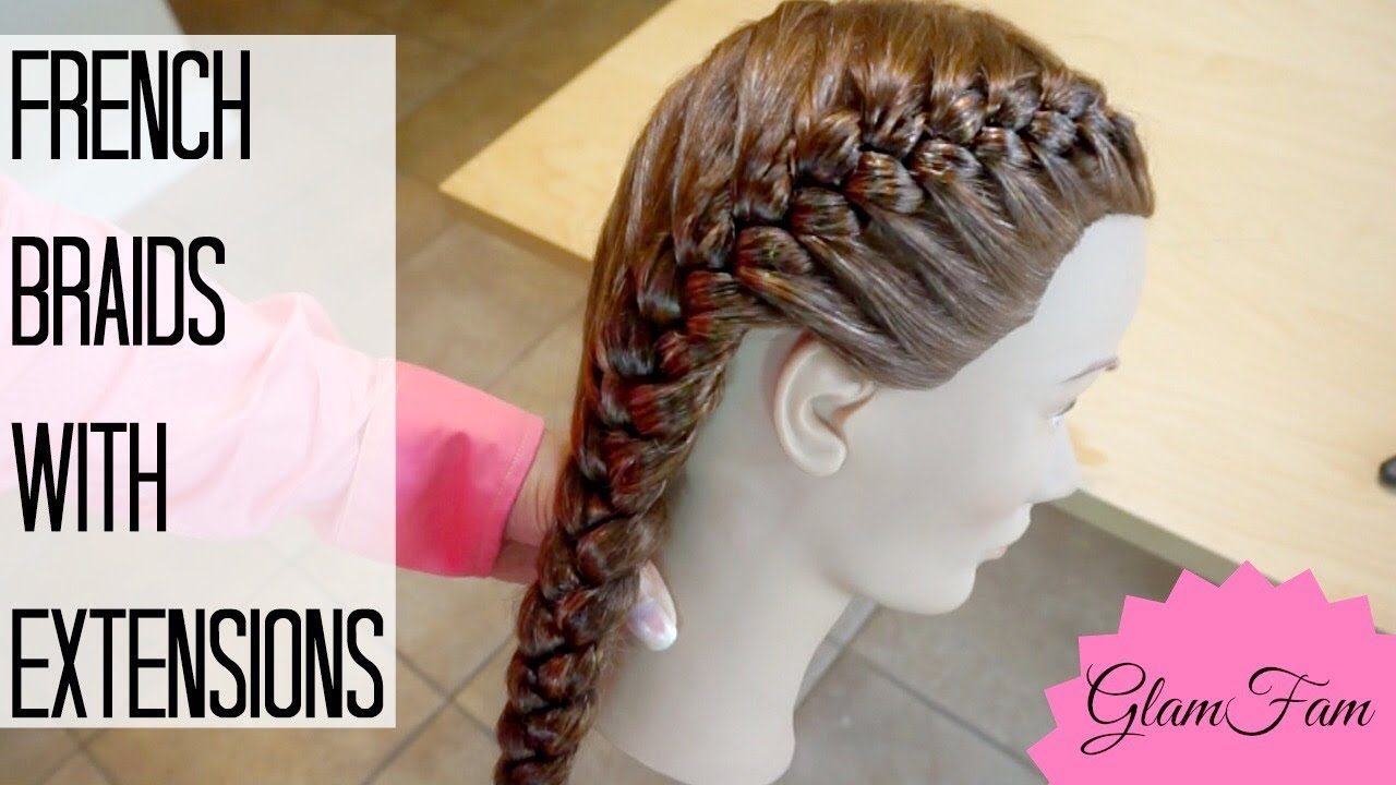 How To French Braid With Weave How To Braid Youtube