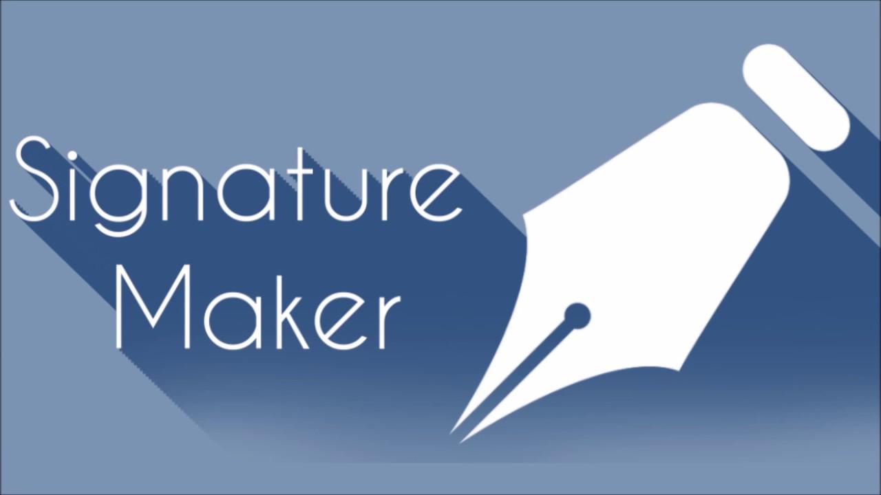 Signature maker - YouTube