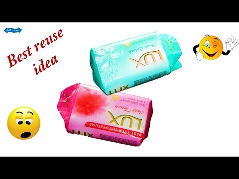 Awesome waste  lux soap wrapper craft idea * Waste material reuse idea * Best out of waste
