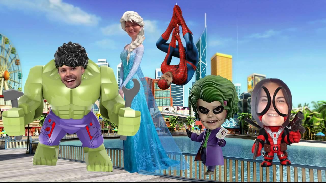 Мисс Кэти и мистер Макс Семья пальчиков Халк Человек паук ...
