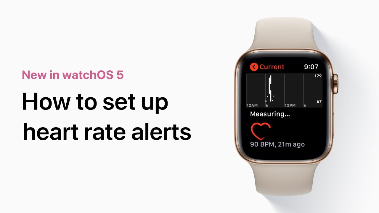 How to set up heart rate alerts on your Apple Watch — Apple Support