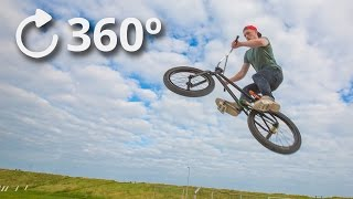 360º Getting Jumped Over by a BMX - Slow Motion 4K thumbnail