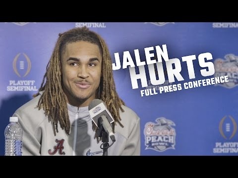 Jalen Hurts' entire Peach Bowl media day interview