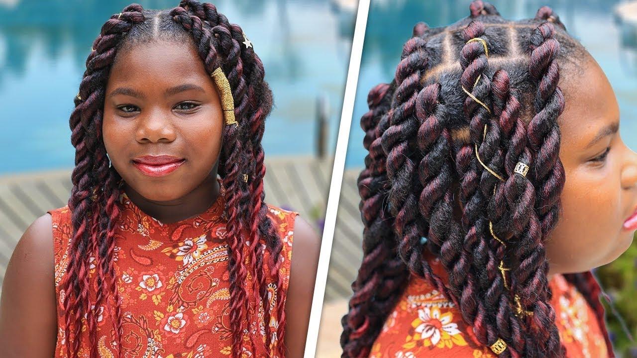 Paisley's Jumbo-Twist Braids (2 Methods) | Cute Girls Hairstyles