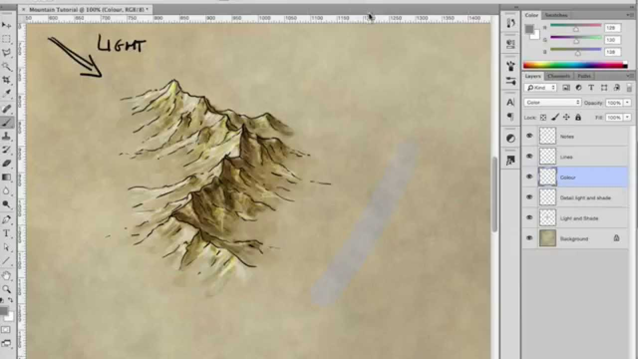This is a photo of Playful Drawing Mountains On A Map
