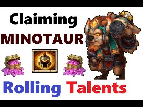 Claiming MINOTAUR With Events Hero Talent Rolls Castle Clash