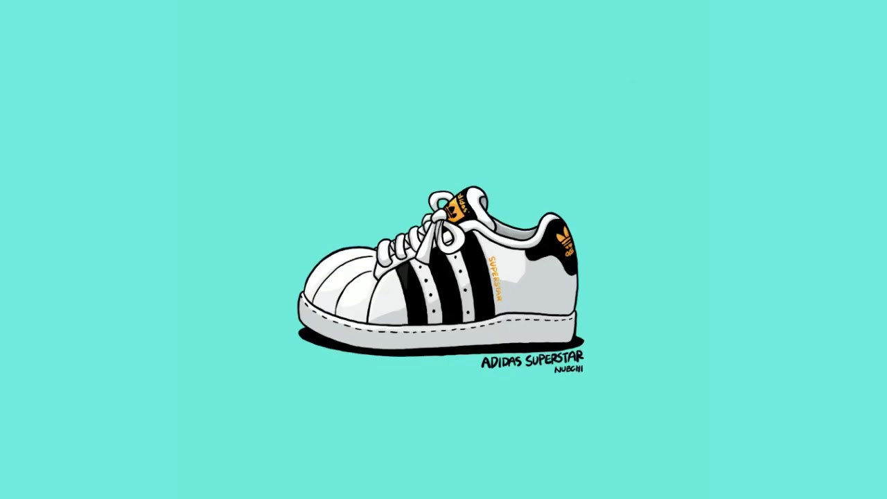 How to draw cartoon shoes  adidas superstar / Draw with iPad Pro 9.7 / for  kids \u0026 beginner
