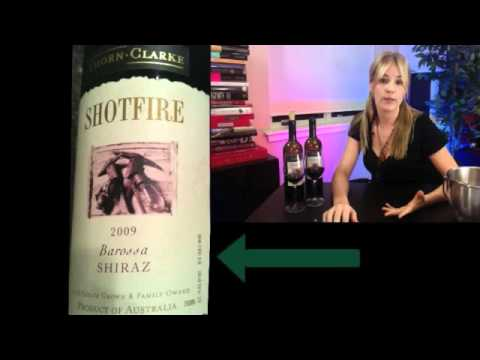 """Winecast #4_2: Reading the Label """"90+ Point Wines"""" Thorn Clarke Shiraz 2009"""