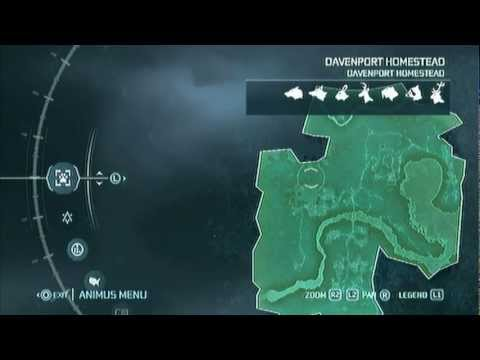 Assassin S Creed 3 Complete Hunting Map Youtube