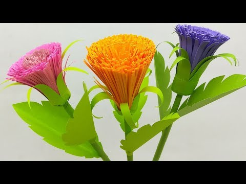 Artificial Flowers for Home Decoration | How to Make Paper Flowers Easy | Paper Craft
