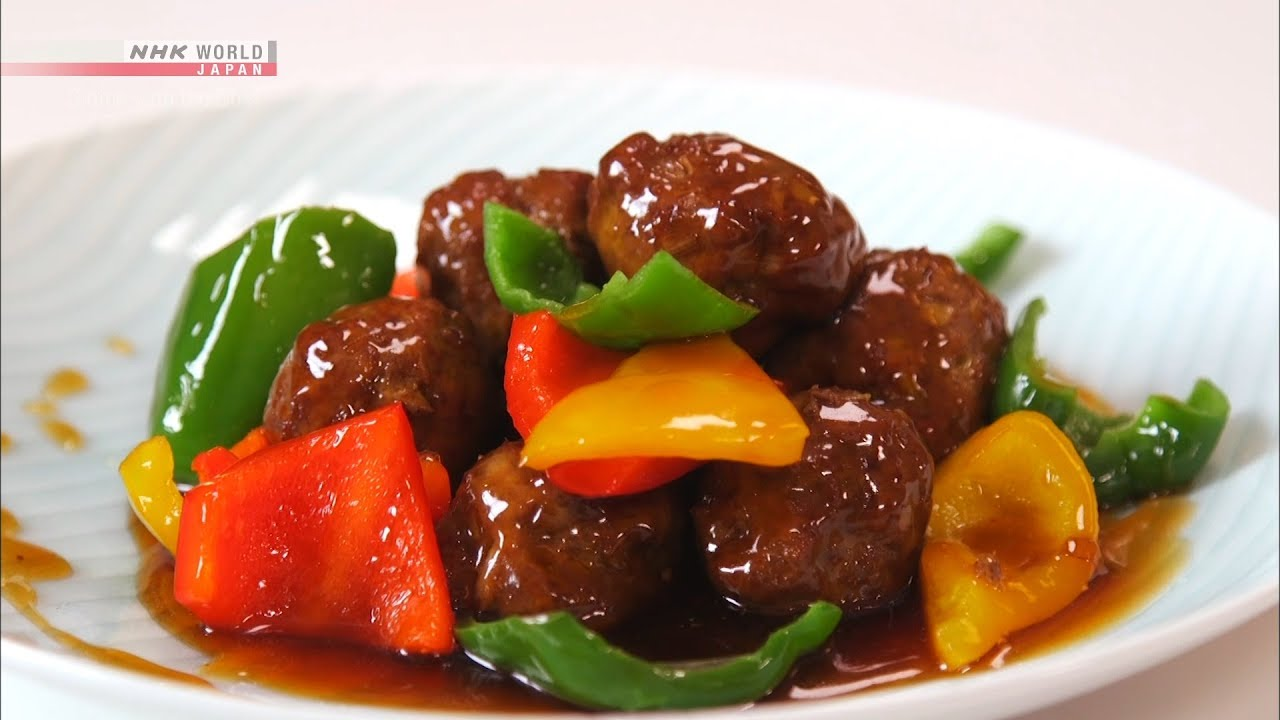Photo of Chef Saito's Sweet and Sour Meatball [Japanese Cooking] – Dining with the Chef – video