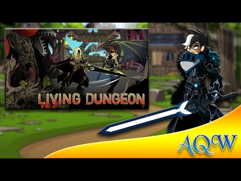 "Living dungeon ""Titan Hollow"" Walkthrough (LIVE) AQW"