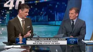 NHL Tonight:  Elias Pettersson:  Taking a look at Petterson`s early impact on Canucks  Nov 5,  2018