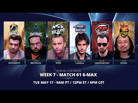 Replay: GPL Week 7 - Eurasia Conference 6-max Match 1 - W7M61