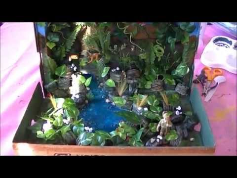 How to Make Rainforest in a Shoebox - School Project