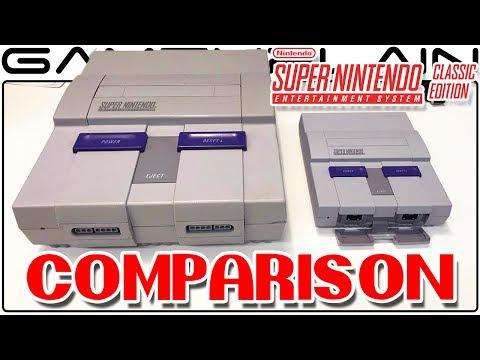 Super NES Classic Slideshow - Size Comparison VS SNES '91 & Switch + Controllers, & Box Pics
