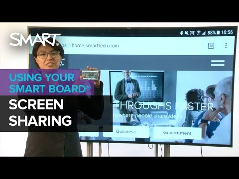 Screen Sharing with the SMART Board 2000 display (2018