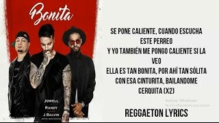 Bonita J Balvin Ft Jowell Randy Letra Audio Official