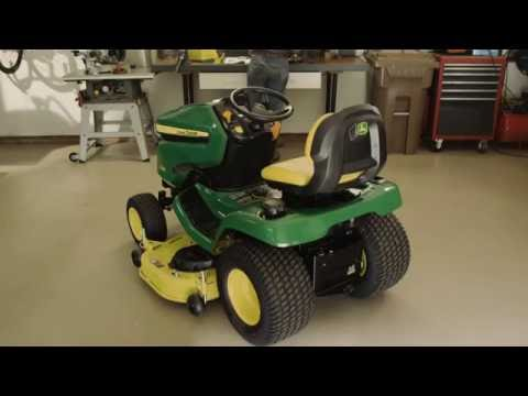 how to level a mower deck john deere x300 x500 lawn. Black Bedroom Furniture Sets. Home Design Ideas
