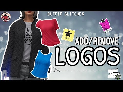 GTA5   Outfit Glitches: 3 *EASY* Add/Remove Logos Glitches (Female & Male)