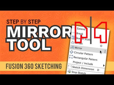 How to Mirror Sketch Geometry in Fusion 360 thumbnail