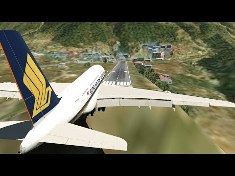 Big Planes Landing at Lukla Airport Nepal [XP11]