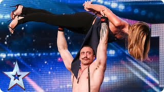 Strongman Daniel hopes to raise the roof... and our Amanda! | Britain's Got Talent 2015