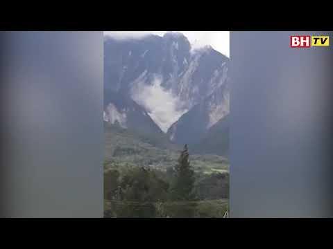 Lereng Gunung Kinabalu runtuh