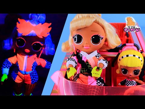 Куклы ЛОЛ Гонщицы! LOL SURPRISE OMG DOLL Big Sister SPEEDSTER - Серия LIGHTS glow in the dark