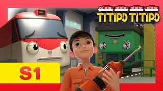 Titipo S1 E9 l Check ups are scary! l Trains go to hospitals too! l Titipo Titipo