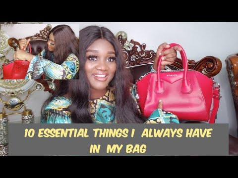 10 ESSENTIAL THINGS I CARRY IN MY BAG AS A LADY