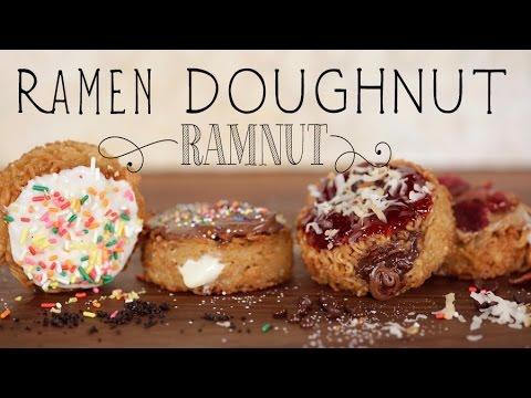 Ramnut: How to Make a Ramen Donut! | Eat the Trend - YouTube: http://www.youtube.com/watch?v=WUHey2lS5BA