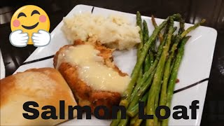 Salmon Loaf With Gravy