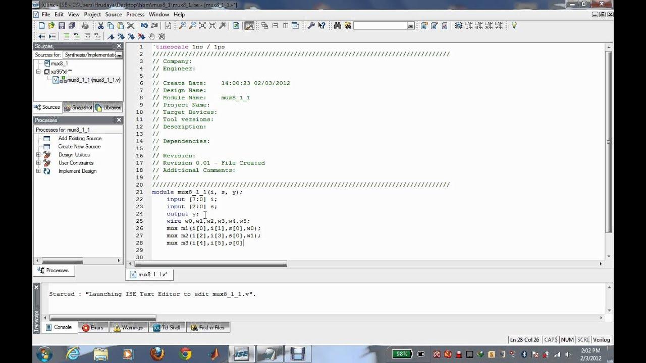 8 1 Mux Using 2 1 Mux Example Of Adding Source Avi