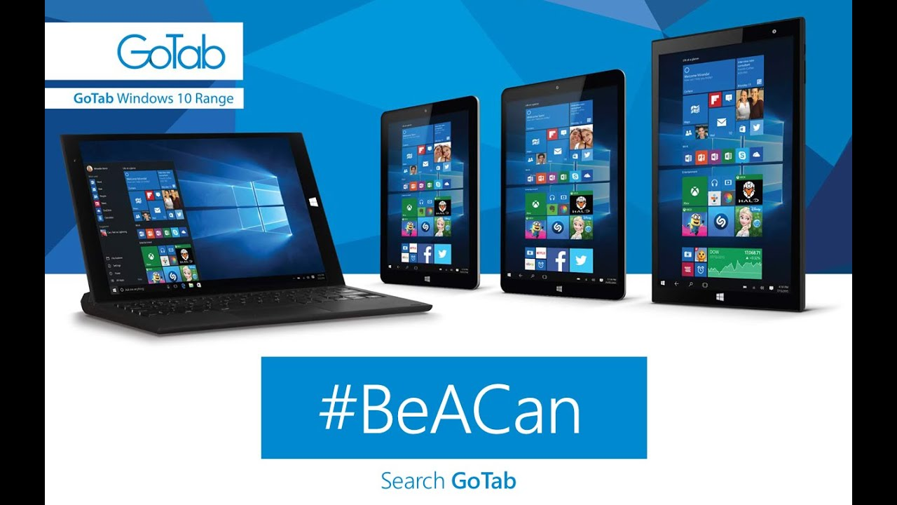 GoTab with Windows 10 #BeACan - Banned Viral Advert