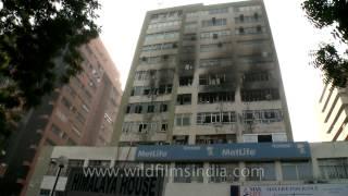 New Delhi Office Building Catches Fire